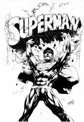 COVER SUPERMAN #28 - INK - by ED BENES