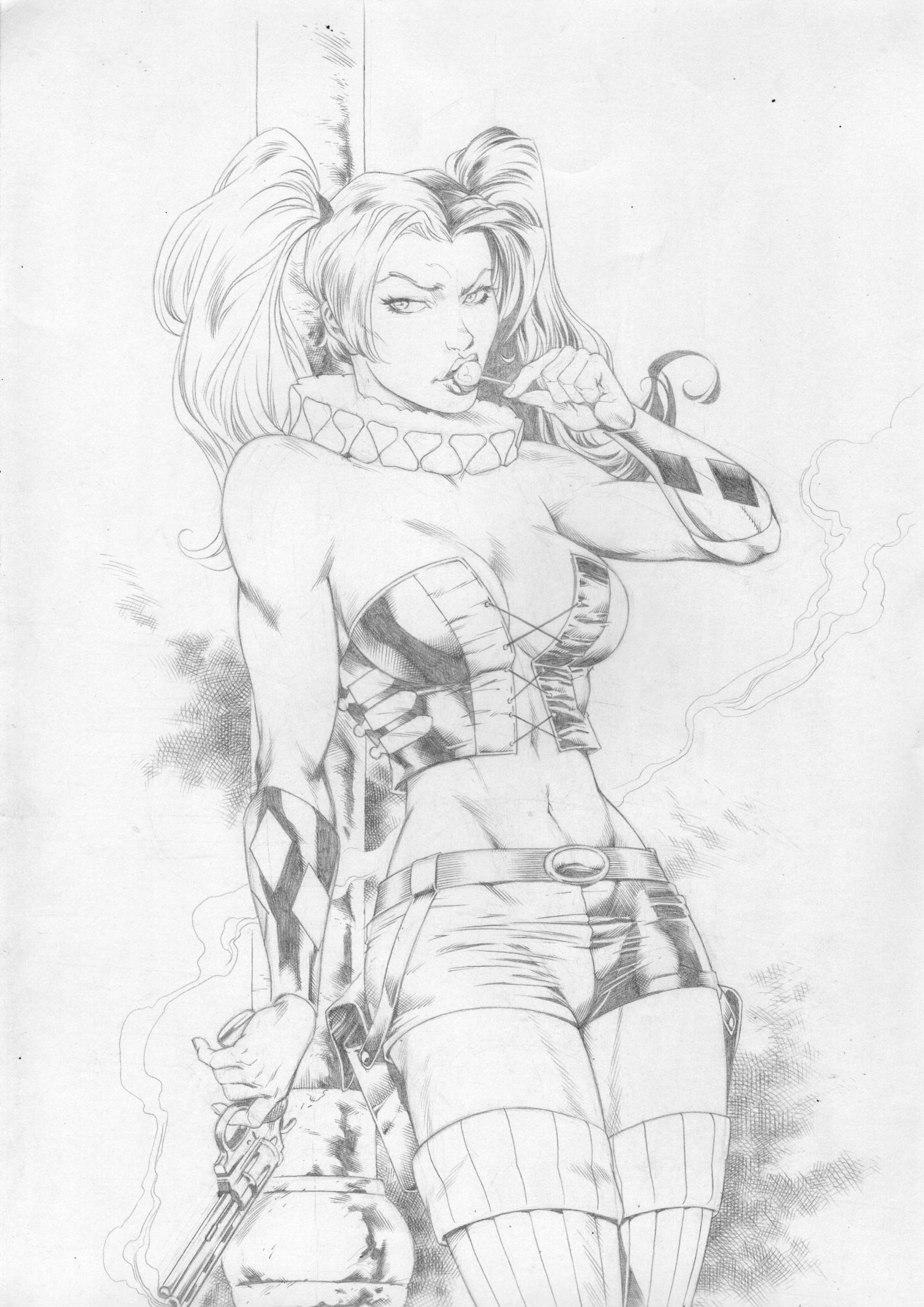 Harley Quinn by Hique by Ed-Benes-Studio
