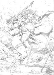 Red Sonja by Milton Estevam by Ed-Benes-Studio