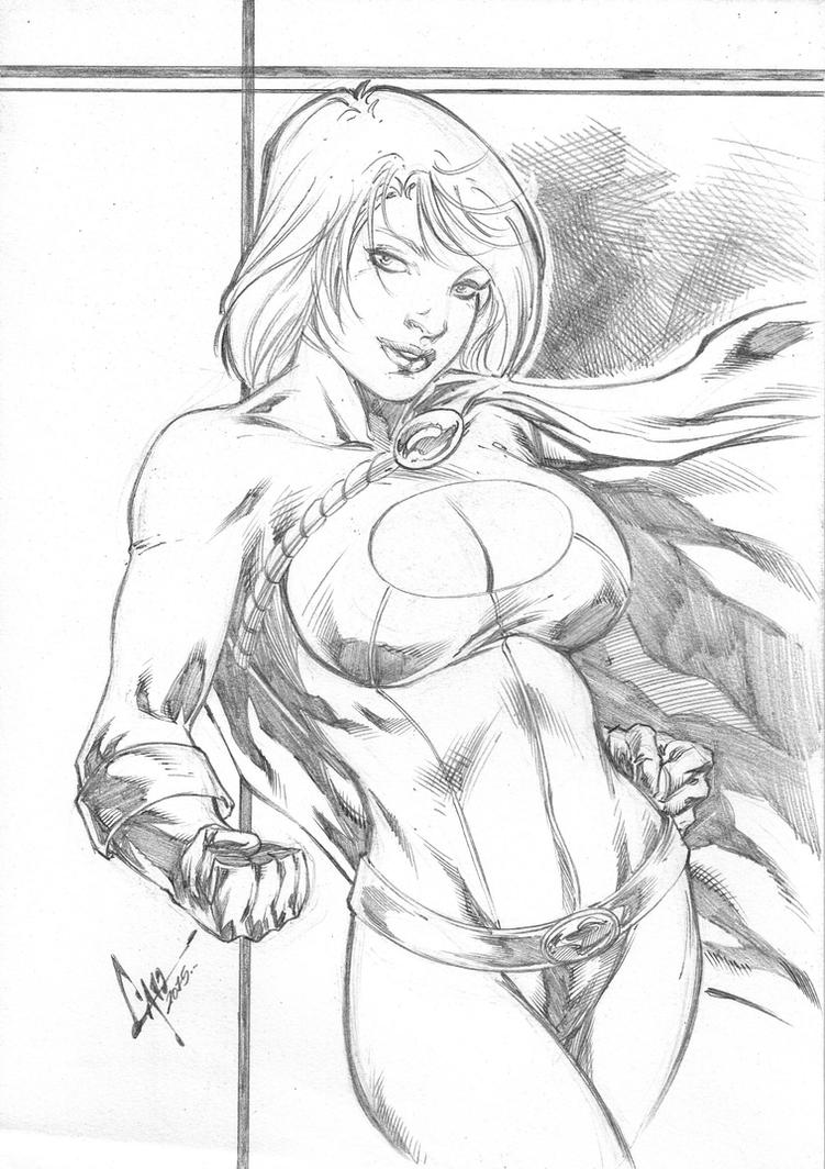 Power Girl by Caio by Ed-Benes-Studio