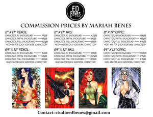 Commissions Prices by Mariah Benes