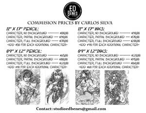 Commissions prices by Carlos Silva