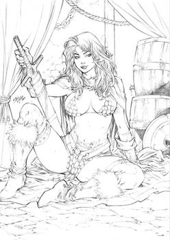 Red Sonja by Iago Maia