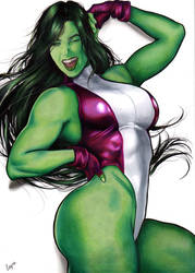 She hulk by Layne