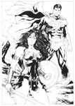 Superman and Wonder Woman by Leo Matos