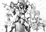 Conan and chains by Dacilio Costa