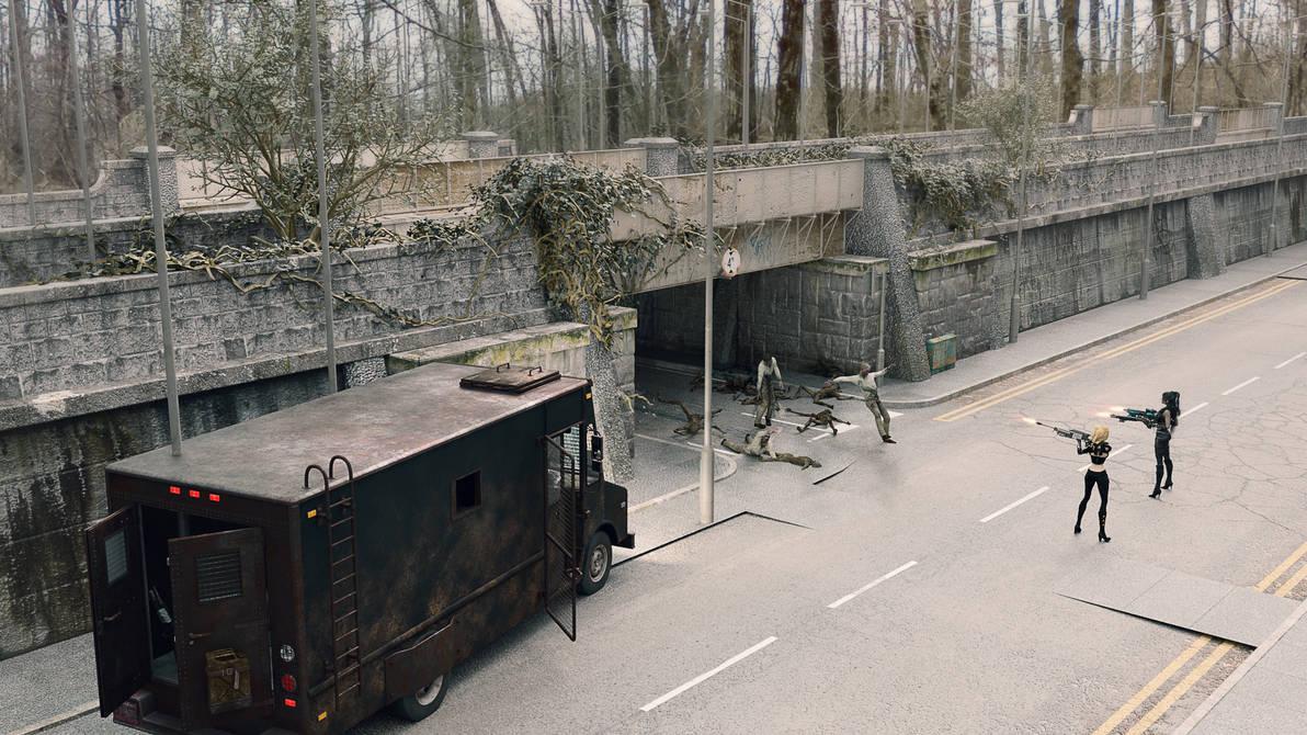 Evul n Badazz - Skirmish under a bridge by reserv888