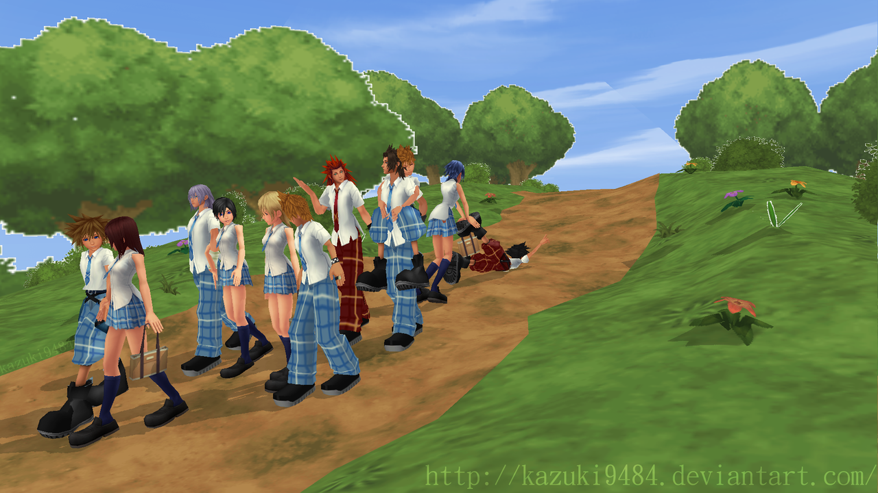 [MMD] Going to the School! KH by kazuki9484