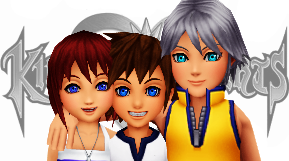 [MMD] Sora, Riku, Kairi BBS - DL!!! by kazuki9484