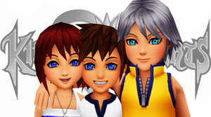 [MMD] Sora, Riku, Kairi BBS - DL!!!