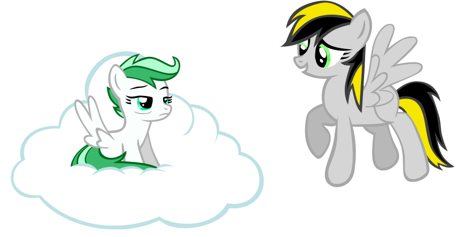 Mint Breeze and ThunderStar by nuazka