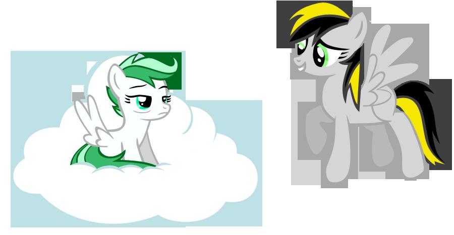 Mint Breeze and ThunderStar by nuazka