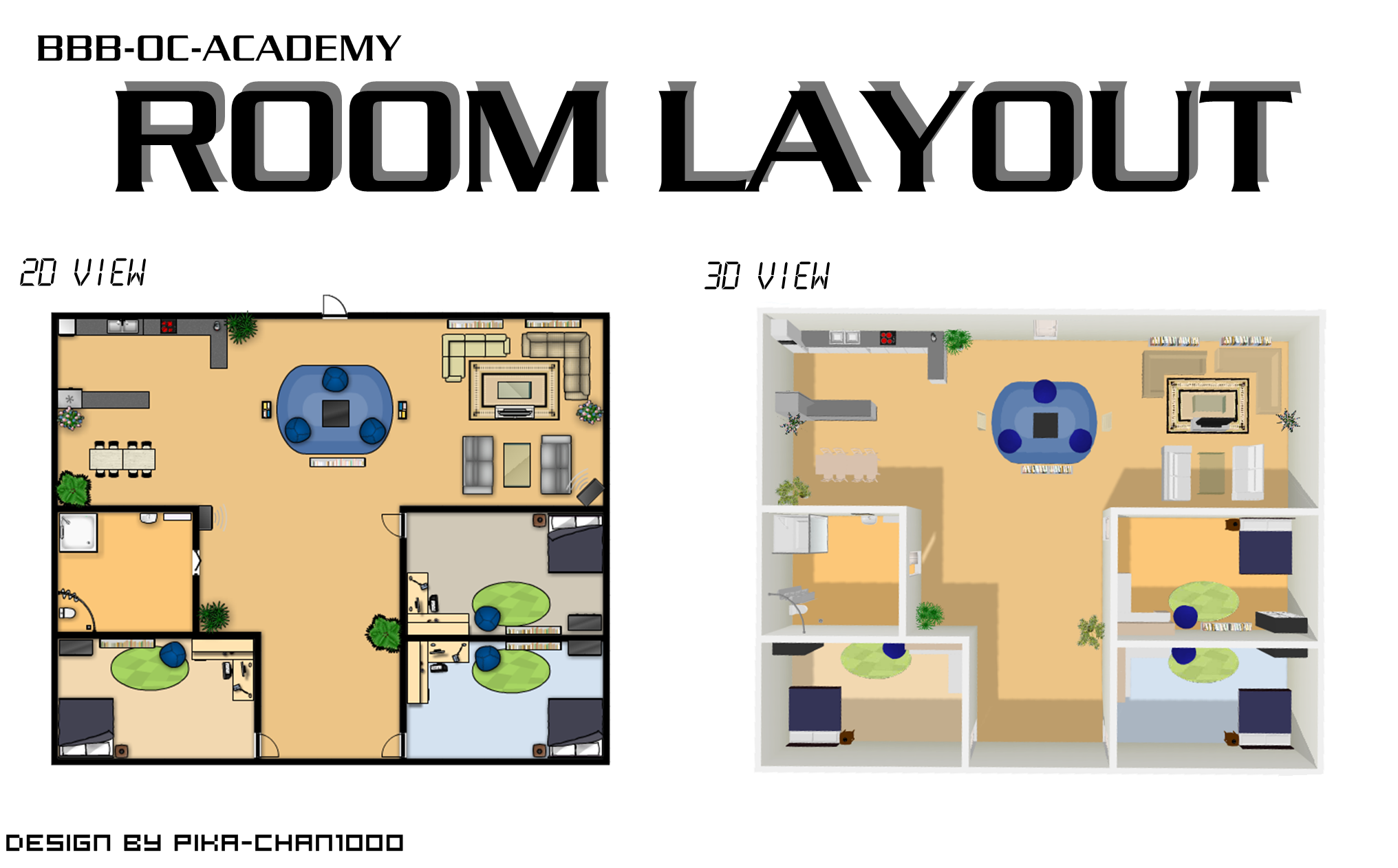 Room Layout [2D and 3D]
