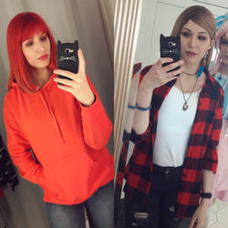 in and out of cosplay by wynn-aura