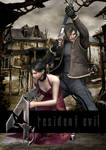 Ada Wong and Leon S. Kennedy (Resident Evil 4) by igorbiohazard