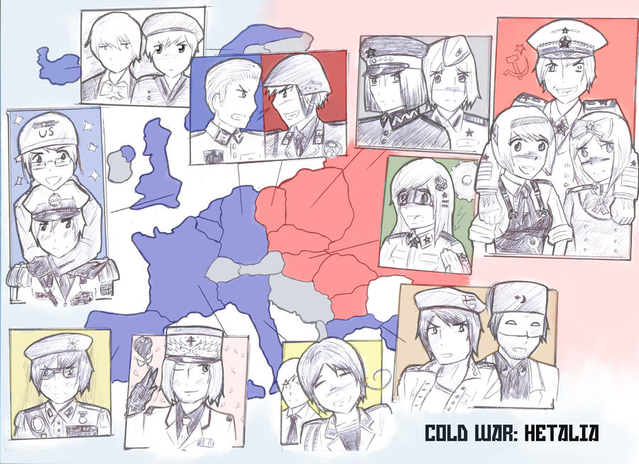 Cold War Hetalia Map by camisicado