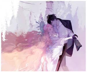Commission: wisteria dance by Taro-K