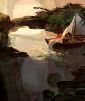 Commission: Treasure boat by Taro-K