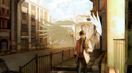 Commission: Wandering angel