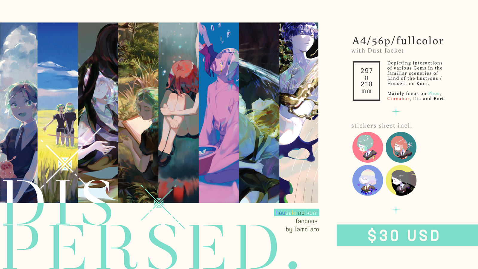 Our Houseki no Kuni Fanbook PRE-ORDER by Taro-K