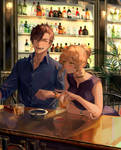 Commission: Chilling at the bar