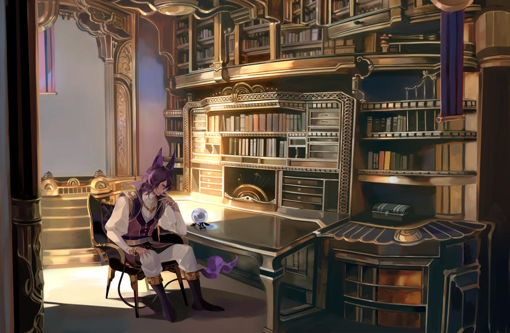 Commission: The study room by Taro-K