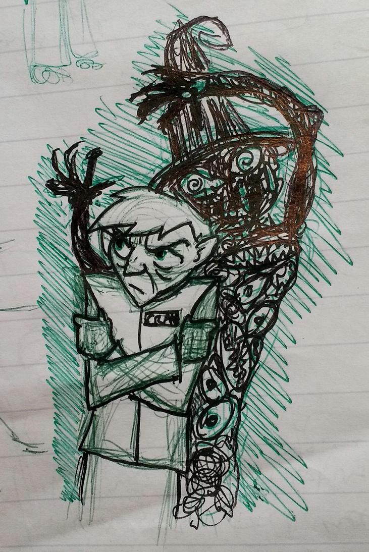 Jonathan Crane sketch by CheshyFreshy
