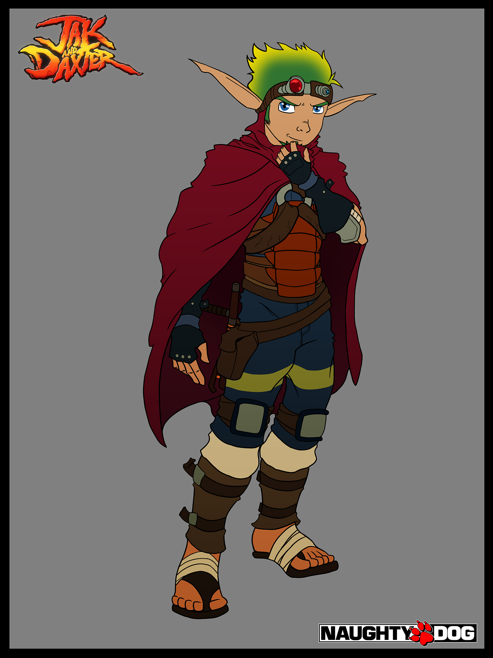 Jak And Daxter4 Concept Art Jak Wip By Nero Devilhunter On
