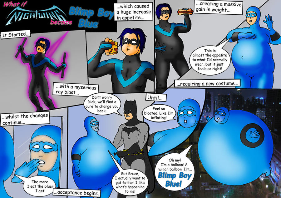 Nightwing Blimp Boy Comic 1 by belly577