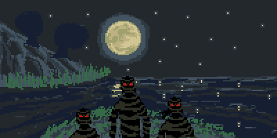 Mummies at Moonlight by Cosmos-Centric