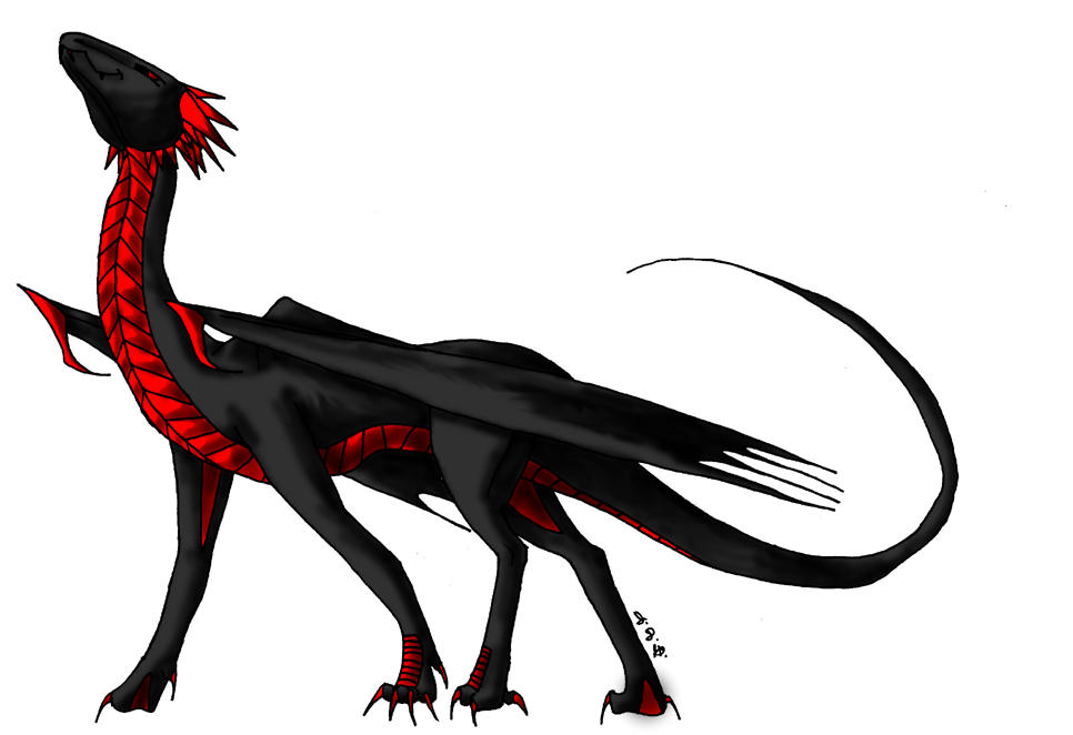 Black and Red Dragon by JoJoBynxFwee on DeviantArt
