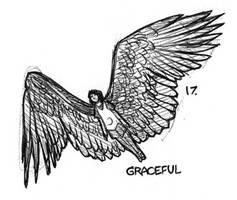 Inktober 17 - Graceful by JoJoBynxFwee