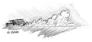 Inktober 19 - Cloud by JoJoBynxFwee