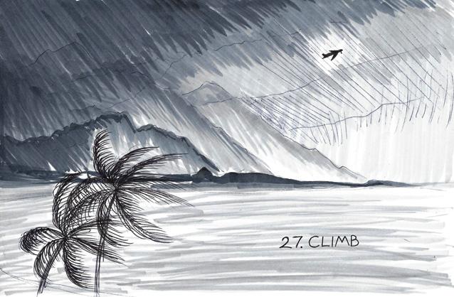 Inktober 27 - Climb by JoJoBynxFwee