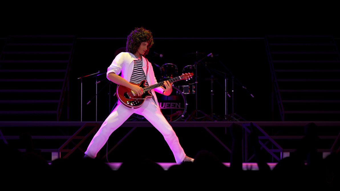 Brian May Guitar Solo by Blendipel on DeviantArt