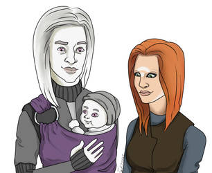 Irisa, Alak and Luke by The-Taz-of-Shakti
