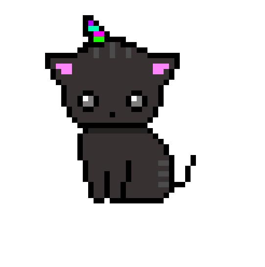Unicorn Kitty By Sunii Pixelart On Deviantart