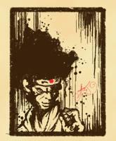 Afro Samuri by wallmasterr