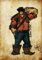 cowboy 30 ish min by wallmasterr