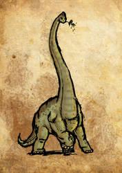 dinosaur by wallmasterr