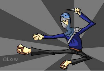 cartoon ninja by wallmasterr