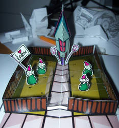 Invader Zim Pop-up house page by wallmasterr