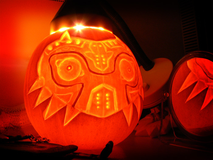 Zelda majora's mask Pumpkin by wallmasterr