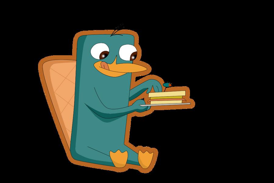 Perry y su sandwich by leyva1130