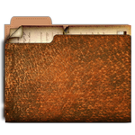 Steampunk Folder Icon with documents