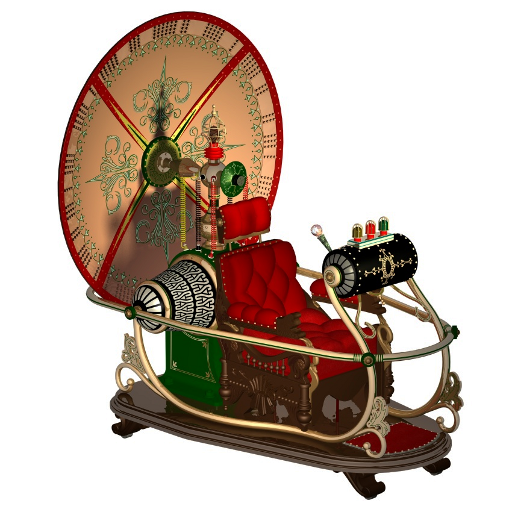 Steampunk Time Machine Icon by pendragon1966
