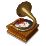 Steampunk Music Player Icon