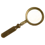 Steampunk Victorian Magnifying-glass Icon Mk2