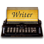 Steampunk Victorian Writer word processor Icon by pendragon1966