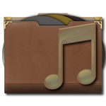 Steampu Victorian Music Folder Icon
